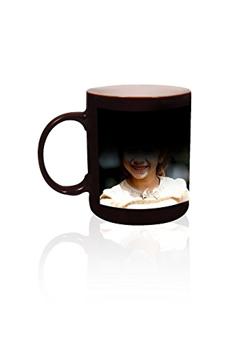 ANJALIS Black Color Changing Magic Photo Mug - Customized or Personalized With Photo