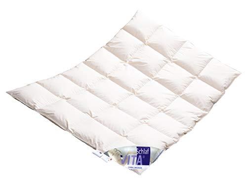 Vita® Schlaf Winter Daunendecke Daunenbett MEGA WARM Premium Decke WILDENTE Made in Germany Since 1947 Größe (135x200cm)