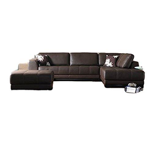 Sofa's hub Brown Leather 5 Seater Sofa Set