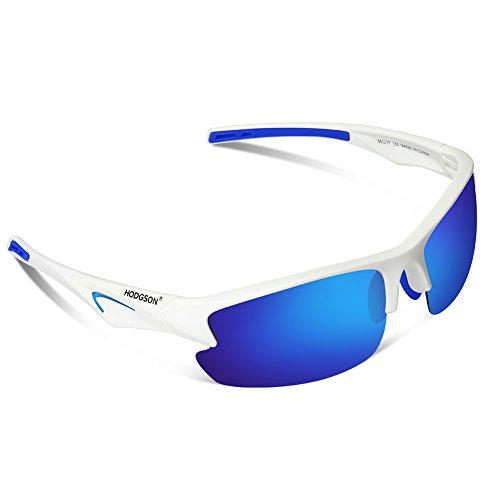Polarisierte Sonnenbrille für Herren und Damen Unisex Sportbrille Treiber Glasses Sport Sonnenbrillen Ultra leicht UV400 Schutz Radbrille für Fahren, Fahrrad, Golf, Wandern