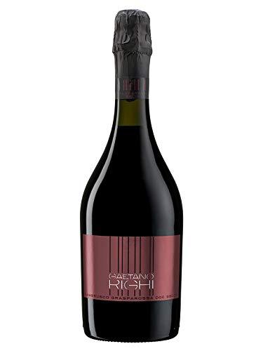 LAMBRUSCO Grasparossa di Castelvetro DOC Secco - Vini Righi - Vino rosso frizzante - Bottiglia 750 ml