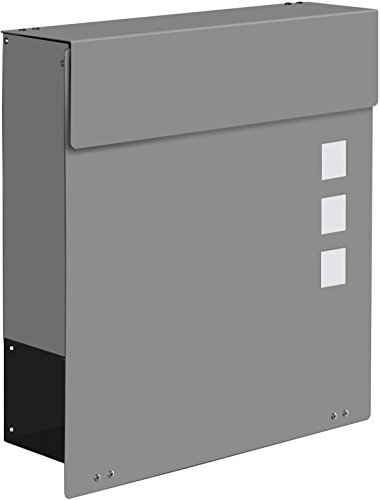 Frabox Design Briefkasten NAMUR EXKLUSIV Stahl lackiert, RAL 9007 Graualuminium