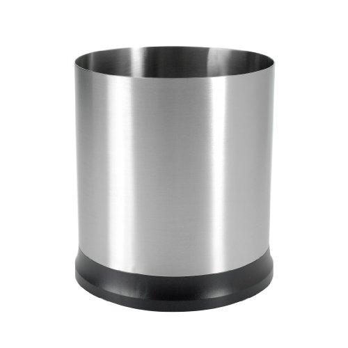 OXO Good Grips Bote Giratorio de Acero Inoxidable para Utensilios de Cocina - Porta-Cubiertos c/Rotación