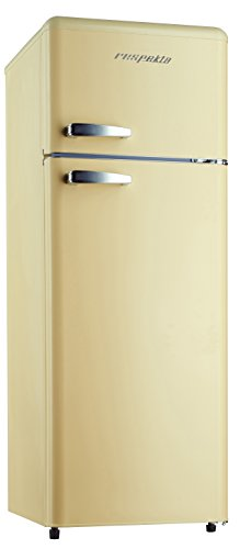 respekta, frigorifero con congelatore, in stile retrò, 146 kg, colore crema lucido, A++