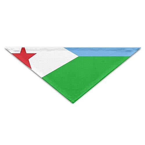 Rghkjlp Bandera de Djibouti Bandana Triángulo Pañuelos Pañuelos Bufandas Accesorios para Perros y Gatos
