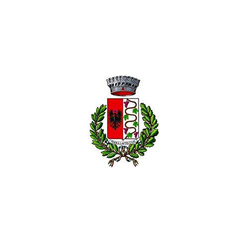 AL PRODUCTION Comune di Sizzano Mis. 150x220 Bandiera in Tessuto Nautico Confezionata con Corda E Guaina