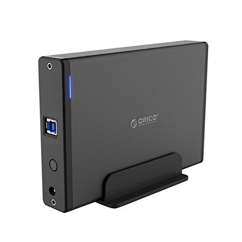 ORICO - Custodia esterna disco rigido da 3,5 pollici con telaio rimovibile, USB 3.0 a SATA 3.0 per...