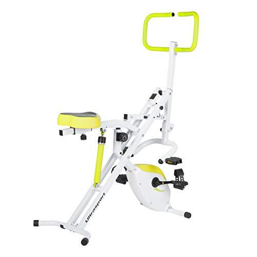 Ultrasport F-Rider 2 en 1, y compris F-Bike, entraîne tout le corps, appareil de cardio-training, Vert 22