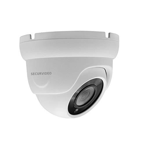 Telecamera Mini Dome Turret Videosorveglianza HD 2MPX 1080P Ibrida 4IN1 AHD/TVI/CVI/CVBS 3.6mm, OSD/UTC, coaxial control, weatherproof IP66 Metal, Visione notturna IR LED 20m