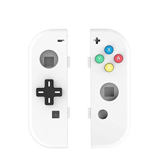 Myriann Translúcido NS Joycon Controlador de mano Carcasa con D-Pad botón DIY Reemplazo de Shell Case para Nintendo Switch Joy-Con (L / R) sin Electrónica