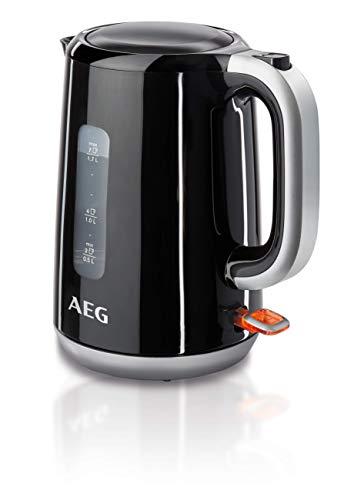 AEG EWA3300 AEG Expresswasserkocher (1.7 Liter, schnelles Aufkochen dank leistungsstarken 2200 Watt,  automatische Sicherheitsabschaltung) Schwarz