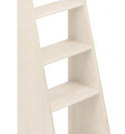 BioKinder 23819 Scaletta Noah Scala Letto a soppalco in Legno massello di Pino 100 cm Bianco smaltato