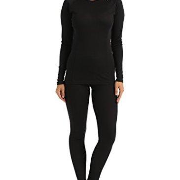 Ultrasport Ensemble de sous-vêtements thermiques pour femme – t-shirt et collant fonctionnels – sous-vêtements fonctionnels – sous-vêtements de ski