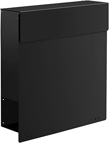 Frabox Design Briefkasten NAMUR RAL 9005 Tiefschwarz