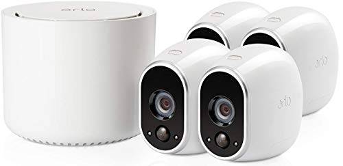 31Saises3jL [Bon Arlo !  Arlo - Smart Caméra de surveillance - Pack de 4 - Kit de Surveillance 100% sans Fil, HD, Vision Nocturne, Etanches ...