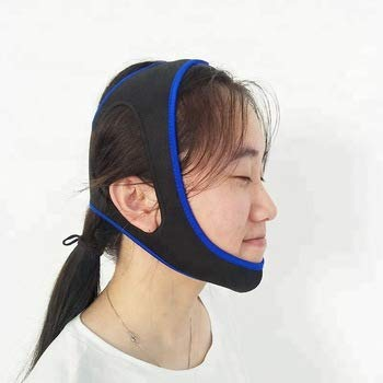 Healthnode (TM) Anti snoring Chin Strap Device as Snore Stop Sleep aids Solution - Adjustable Snore Stopper for Women & Men (BlueTriangle)