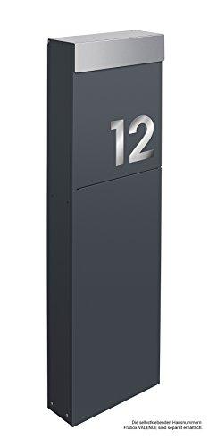 Frabox® Design Standbriefkasten NAMUR anthrazitgrau RAL 7016 / Edelstahl - Made in Germany! - 6
