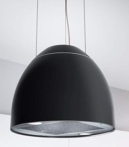 Moderna cappa per isola New Moon, Ø 45 cm, cappa aspirante nera opaca *568918