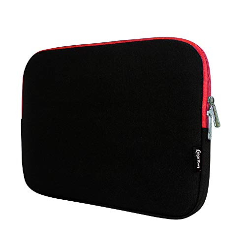 Emartbuy Laptop Neoprene Sleeve case with Zip for Fusion5 C60B 11.6 Inch Full HD (Black/Red Two Tone_11.6-13.3 Inch)