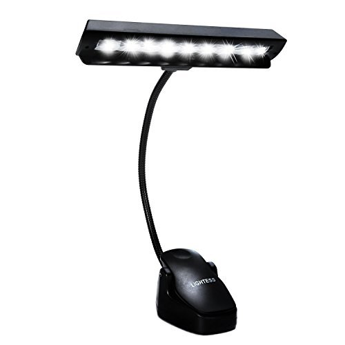 Lightess Music Stand Light LED Clip on Piano Book Reading Lamp with 9 Leds, Black