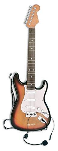 Guitarra eléctrica con auriculares y micrófono