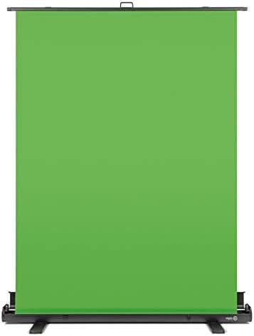 Elgato Green Screen - Ausfahrbares Chroma-Key-Panel zur Hintergrundentfernung mit automatisch arretierendem Rahmen, knitterfreies Chroma-Green-Material in Aluminium-Koffer