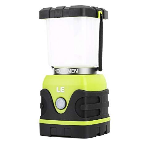 LE LED Campinglampe, Ultra Hell 1000 Lumen, 3 Helligkeiten Dimmbar Suchscheinwerfer, Batteriebetrieben Notfallleuchte für Stromausfällen, Wandern, Notfall, Ausfälle und so weiter