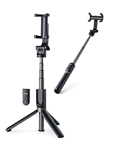 Anker Bluetooth Selfie Stick, Extendable and Tripod Stand Selfie Stick with Wireless Remote for iPhone Xr/Xs/X/8/8 Plus/7/7 Plus/Se/6S/6/6 Plus, Galaxy S9/S8/S7/S6, Android, Gopro, Dlsr Cameras, More