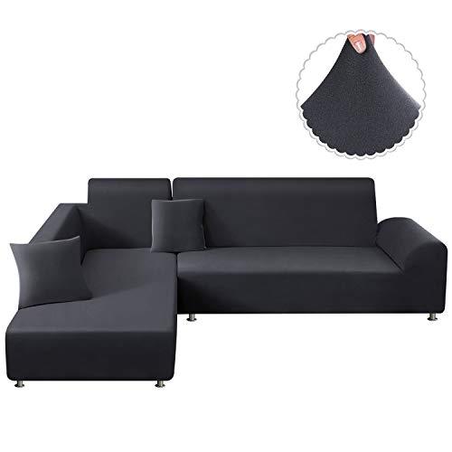 TAOCOCO Copridivano con Penisola Elasticizzato Chaise Longue Sofa Cover Componibile in Poliestere a...