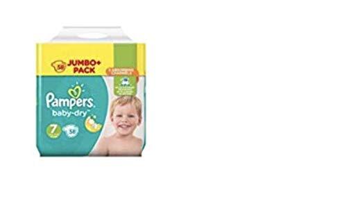 Pannolini Pampers Baby-Dry, taglia 7, confezione Jumbo da 58