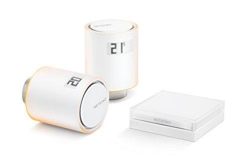 Netatmo Starter Pack - Tête Thermostatique Connectée et Intelligente, Pack pour chauffage collectif, NVP-FR