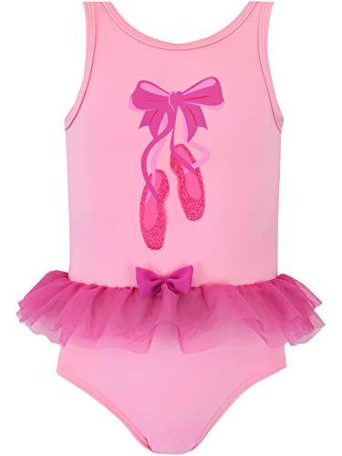 Harry Bear Costume da Bagno per Ragazze Ballerina Rosa 5-6 Anni