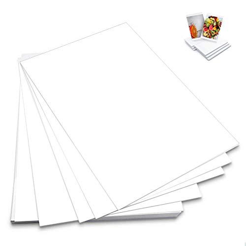100Pcs Carta Fotografica Lucida per stampante laser fotocopiatrice lavagna luminosa per stampe e...