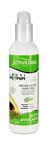 Activilong-Actirepair-Lait-de-Coiffage-Rparateur-aux-Huiles-dOlive-et-Avocat-Bio-240-ml