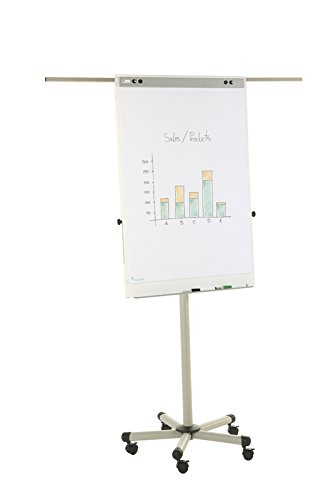Bi-Office - Lavagna Portablocco Mobile-Pro, Magnetica, 70x100cm