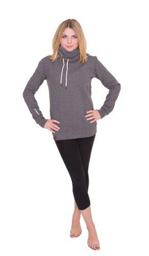 JUMPSTER Turtleneck Damen & Herren EXQUISITE mit Kragen, sehr kuscheliger Sweater, langer Hoodie (slim / regular) Slim Fit Grau M