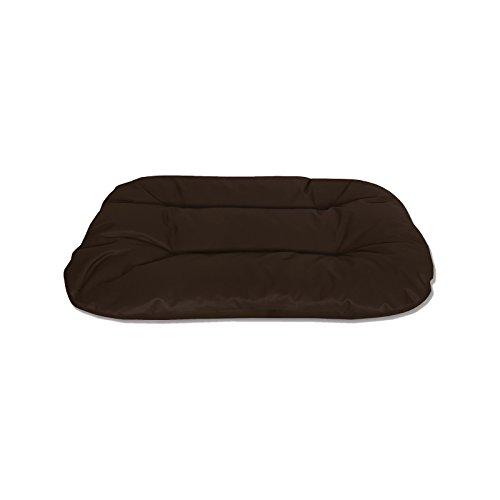 BedDog 2in1 Hundebett REX/L/braun/Wende-Hunde-Kissen oval-rund/großes Hundekörbchen/waschbares Hundebett/Hundesofa für drinnen & draußen