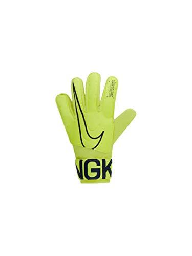 Nike Nk GK Match Jr-Fa19, Guanti da Calcio Unisex Bambini, Volt/Obsidian, 6