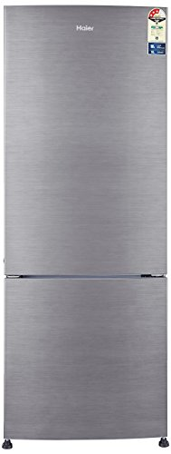 Haier 320 L 3 Star Frost-Free Double Door Refrigerator (HRB-3404BS-R/HRB-3404BS-E, Silver Brush Line, Bottom Freezer)