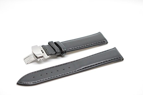 Blenheim London Classic 22mm nero in vera pelle e acciaio INOX pin fibbia Orologio da polso
