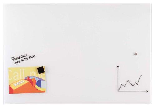 Franken gt10010001magnetiche Lavagna in Vetro, 100x 100cm 60 x 80 cm bianco