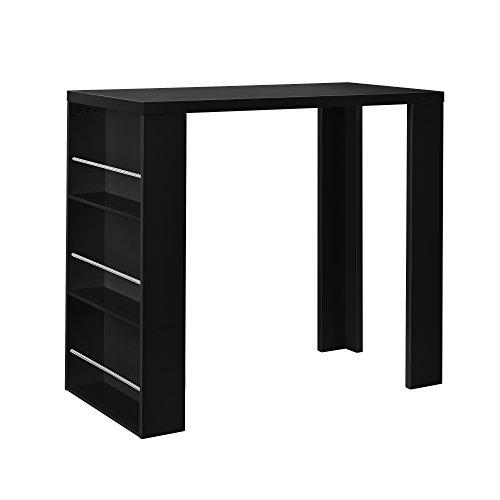 [en.casa] Tavolo da bar / bancone bar + bar da casa con 3 cassetti - nero opaco - in MDF laccato