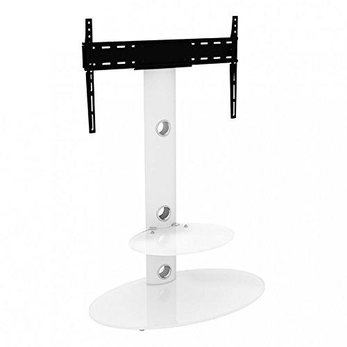 Supporto TV a King verticale con staffa in raso bianco ovale ripiani 80cm da...