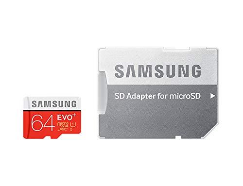 Samsung 64 Go Carte mémoire EVO Plus Micro SD Classe 10 avec adaptateur SD