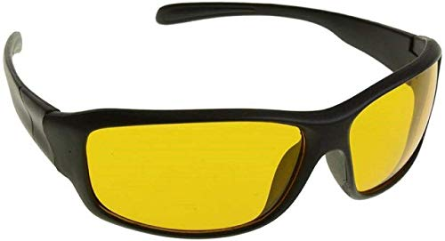 DEVEWTM NIGHT VISION UNISEX UV PROTECTED DRIVING GLASSES YELLOW