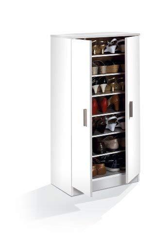 Habitdesign 007813O - Scarpiera Basic, Mobili ausiliari in colore Bianco Brillante, Misure: 108 cm...