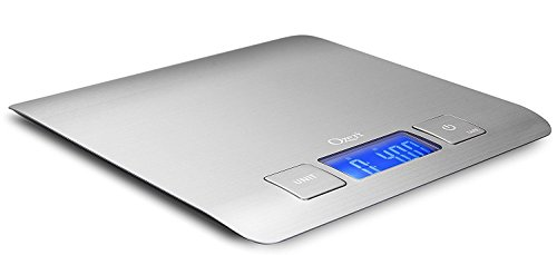 Ozeri Zenith Digital Kitchen Scale in Refined Stainless Steel with Fingerprint Resistant Coating (Silver)