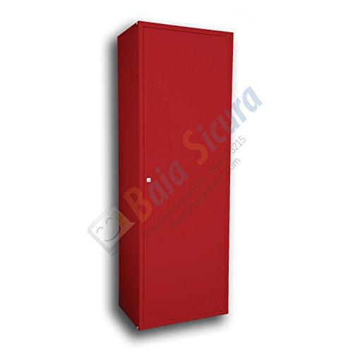 Baia Sicura Armadio 180x60x40 Tutto Ripiani Scarpiera Multiuso Colorato Rosso