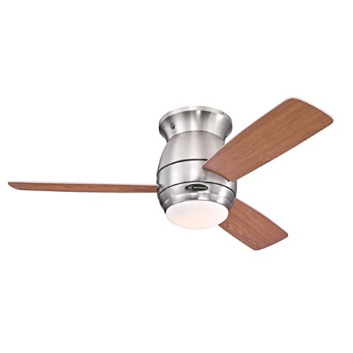 Westinghouse 7218140 Ventilatore da Soffitto per Interni Halley, Finitura in Nichel Spazzolato, Pale...