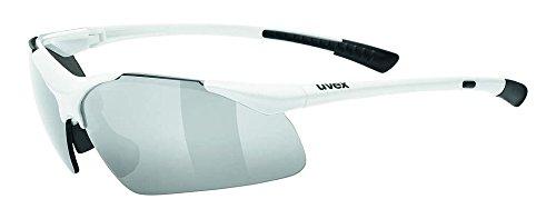 Uvex Sportstyle 223 Gafas de Ciclismo, Unisex Adulto, Blanco, Talla Única